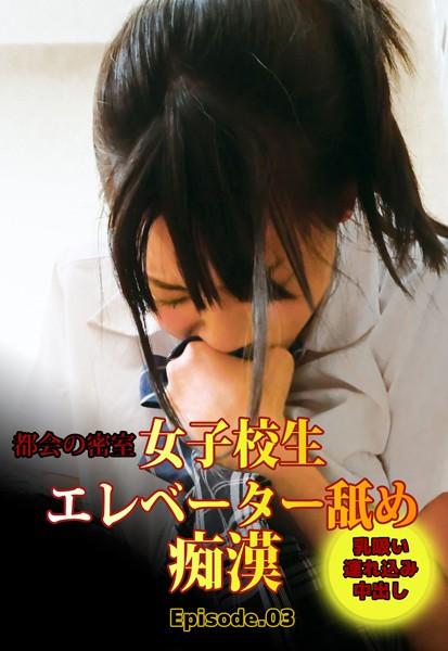 都会の密室 女子校生エレベーター舐め痴● 乳吸い連れ込み中出し Episode.03